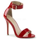 Czerwone 13 cm AMUSE-10 buty na transwestyta