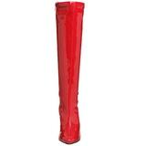 Czerwone 13 cm Pleaser SEDUCE-2000 Wysokie kozaki na szpilce