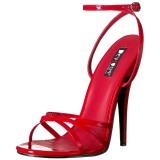 Czerwone 15 cm DOMINA-108 fetysz buty na obcasie