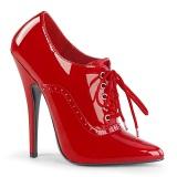 Czerwone 15 cm DOMINA-460 oxford buty na obcasie