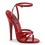 Czerwone 15 cm Devious DOMINA-108 Wysokie sandały na szpilce