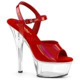 Czerwone 15 cm KISS-209BHG Platformie buty high heels