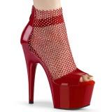 Czerwone 18 cm ADORE-765RM blasku sandały na platformie