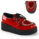 Czerwone 5 cm CREEPER-108 Platformie Creepers Damskie
