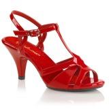 Czerwone 8 cm Fabulicious BELLE-322 sandały na obcasie