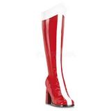 Czerwone Biały 8 cm GOGO-305 Kozaki Obcasy Damskie