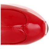 Czerwone Błyszczące 15 cm TEEZE-3000 Kozaki za Kolano Platformie