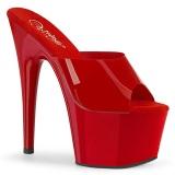 Czerwone Jelly-Like 18 cm ADORE-701N klapki do tańca pole dance