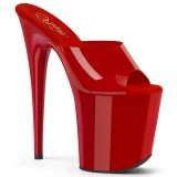 Czerwone Jelly-Like 20 cm FLAMINGO-801N klapki do tańca pole dance