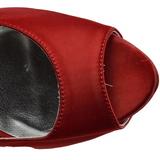 Czerwone Kamieniami 13 cm LOLITA-08 Szpilki Wieczorowe z piętą