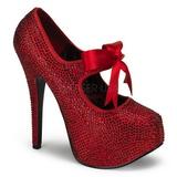 Czerwone Kamieniami 14,5 cm Burlesque TEEZE-04R platformy szpilki damskie
