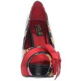 Czerwone Lak 11,5 cm BETTIE-13 Platformie Szpilki Open Toe