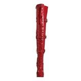 Czerwone Lakierki 13 cm ELECTRA-3028 Wysokie Kozaki za Kolano