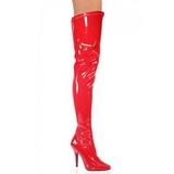Czerwone Lakierki 13 cm SEDUCE-3000 Kozaki za kolano na obcasie