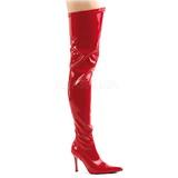 Czerwone Lakierki 9,5 cm LUST-3000 Kozaki za kolano na szpilce