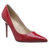 Czerwone Lakierowane 10 cm CLASSIQUE-20 szpilki ze szpicem wysokie obcasy