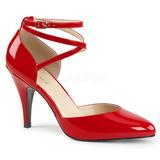 Czerwone Lakierowane 10 cm DREAM-408 duże rozmiary szpilki buty