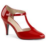 Czerwone Lakierowane 10 cm DREAM-425 duże rozmiary szpilki buty