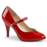 Czerwone Lakierowane 10 cm DREAM-428 duże rozmiary szpilki buty