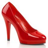 Czerwone Lakierowane 11,5 cm FLAIR-480 szpilki dla mężczyzn