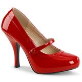 Czerwone Lakierowane 11,5 cm PINUP-01 duże rozmiary szpilki buty