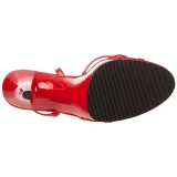 Czerwone Lakierowane 12 cm FLAIR-436 Sandały damskie na obcasie