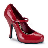 Czerwone Lakierowane 12 cm PRETTY-50 Buty na wysokim obcasie szpilki