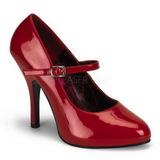 Czerwone Lakierowane 12 cm TEMPT-35 Buty na wysokim obcasie szpilki