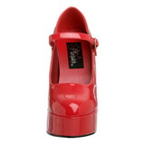 Czerwone Lakierowane 13 cm DOLLY-50 Szpilki Wysoki Obcas dla Mężczyzn