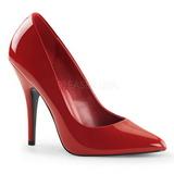 Czerwone Lakierowane 13 cm SEDUCE-420 Buty na wysokim obcasie szpilki
