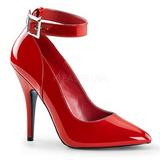 Czerwone Lakierowane 13 cm SEDUCE-431 Buty na wysokim obcasie szpilki