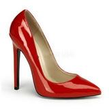 Czerwone Lakierowane 13 cm SEXY-20 szpilki ze szpicem wysokie obcasy