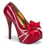 Czerwone Lakierowane 14,5 cm Burlesque TEEZE-14 buty damskie na wysokim obcasie