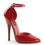 Czerwone Lakierowane 15 cm DOMINA-402 Buty na wysokim obcasie szpilki