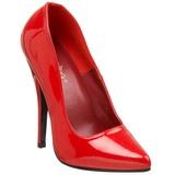 Czerwone Lakierowane 15 cm DOMINA-420 Szpilki Wysoki Obcas dla Mężczyzn