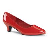 Czerwone Lakierowane 5 cm FAB-420W Buty na wysokim obcasie szpilki