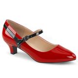 Czerwone Lakierowane 5 cm FAB-425 duże rozmiary szpilki buty