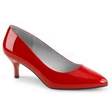 Czerwone Lakierowane 6,5 cm KITTEN-01 duże rozmiary szpilki buty