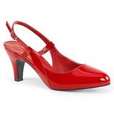 Czerwone Lakierowane 7,5 cm DIVINE-418 duże rozmiary szpilki buty