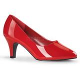 Czerwone Lakierowane 8 cm DIVINE-420W Buty na wysokim obcasie szpilki