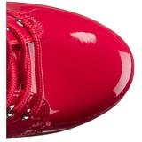 Czerwone Platformie Botki Damskie 16 cm DELIGHT-1020