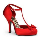 Czerwone Satyna 12 cm CUTIEPIE-12 Buty na wysokim obcasie szpilki