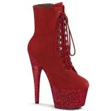 Czerwone glitter 18 cm ADORE-1020FSMG botki do tańca pole dance