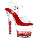 Czerwone glitter 18 cm LOVESICK-708GH buty do tańca pole dance