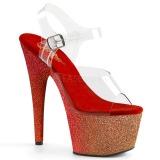 Czerwone glitter 18 cm Pleaser ADORE-708OMBRE buty do tańca pole dance