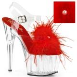 Czerwone pióra 18 cm ADORE-708MF buty do tańca pole dance