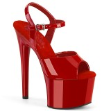 Czerwone sandały 18 cm PASSION-709 pleaser sandały na obcasie
