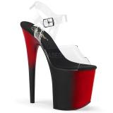 Dwubarwny 20 cm FLAMINGO-808BR Platformie buty high heels