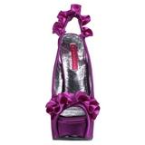 Fioletowy Satyna 14,5 cm Burlesque TEEZE-56 Sandały na wysokim obcasie