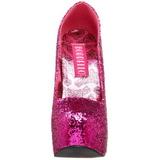 Fuksja Glitter 14,5 cm Burlesque BORDELLO TEEZE-06G Szpilki na wysokim obcasie